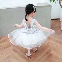 儿童礼服公主裙女童蓬蓬纱周岁生日婚纱裙主持人演出服晚礼服夏季