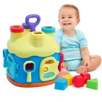 宝宝拼插形状配对积木屋婴儿童男孩女孩玩具1-3岁