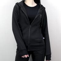 Adidas阿迪达斯 三叶草 女子 运动休闲外套 连帽针织夹克 BR6337