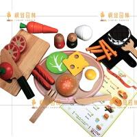 木制过家家西餐切切厨房做饭玩具套装2-3--4-5岁宝宝儿童女孩男孩