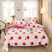 【每满100减50】A纯棉B珊瑚绒四件套全棉水晶绒法莱绒被套2米1.5m1.8床单床上用品