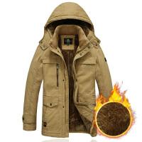 冬装男士棉衣休闲外套男加绒加厚保暖青年男士棉袄中长款冬季