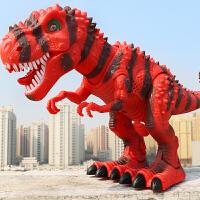 儿童恐龙玩具套装仿真动物塑胶电动男孩大号遥控行走恐龙女霸王龙