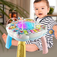 儿童玩具益智手持摇铃多功能游戏桌宝宝七八十九个月宝宝智力动脑