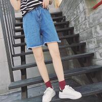 五分裤女夏宽松学生bf韩国ulzzang潮2017夏季韩版百搭直筒裤子女