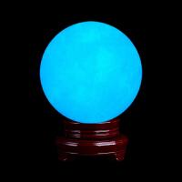 夜明珠天然夜光石超亮原石汉白玉夜光球萤石球水晶球摆件家居礼物礼物