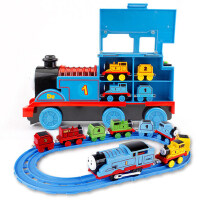 电动小火车轨道套装男孩小汽车模型车宝宝玩具1-3-6岁