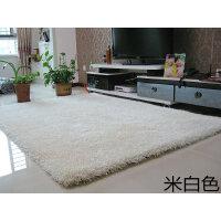 长毛加厚弹力丝白色地毯客厅茶几垫子圆形地垫服装店橱窗拍照地毯SN1048