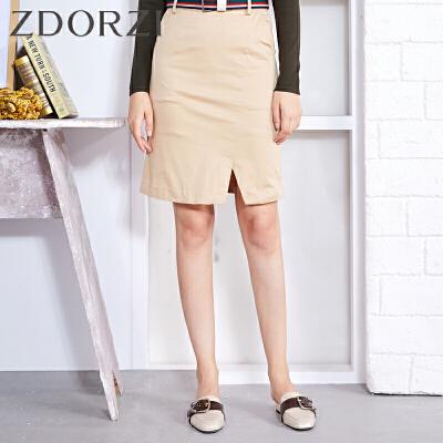 zdorzi卓多姿纯色显瘦高腰半身裙短裙女634250
