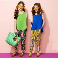亲子装时尚套装韩版女童休闲裤子+背心T恤中大童母女装夏季套