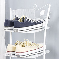 简易组装欧式多层鞋架子家居收纳置物架转角收纳架铁艺简约现代家用小鞋柜家居收纳置物架