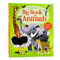【满300-100】动物认知大图书 Usborne Big Book of Big Animals 英文原版进口绘本 动