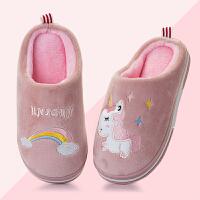 儿童棉拖鞋秋冬季家用防滑可爱保暖小孩包跟拖鞋女童男童宝宝拖鞋