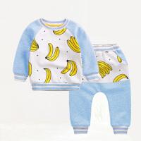 女婴儿童套装0岁4个月春装套新生儿衣服秋冬季休闲宝宝外出服