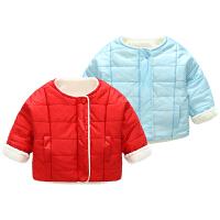 女宝宝衣服冬季1岁9个月男童新生儿棉衣外套秋婴儿加厚保暖外出服