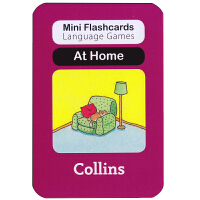 英国进口幼儿认字闪卡 at home 启蒙学习创意游戏卡片