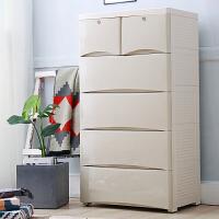 宝宝衣柜儿童抽屉式收纳柜塑料储物柜婴儿衣服整理箱多层五斗柜子