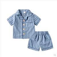 男童家居服夏季套装儿童睡衣女童纯棉短袖宝宝空调服薄款童装小童