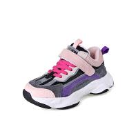 女童运动鞋秋冬款儿童加绒二棉鞋男童老爹鞋中大童跑步鞋