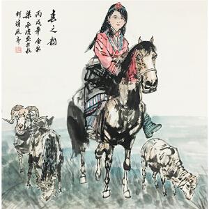 梁平波《春之韵》著名画家