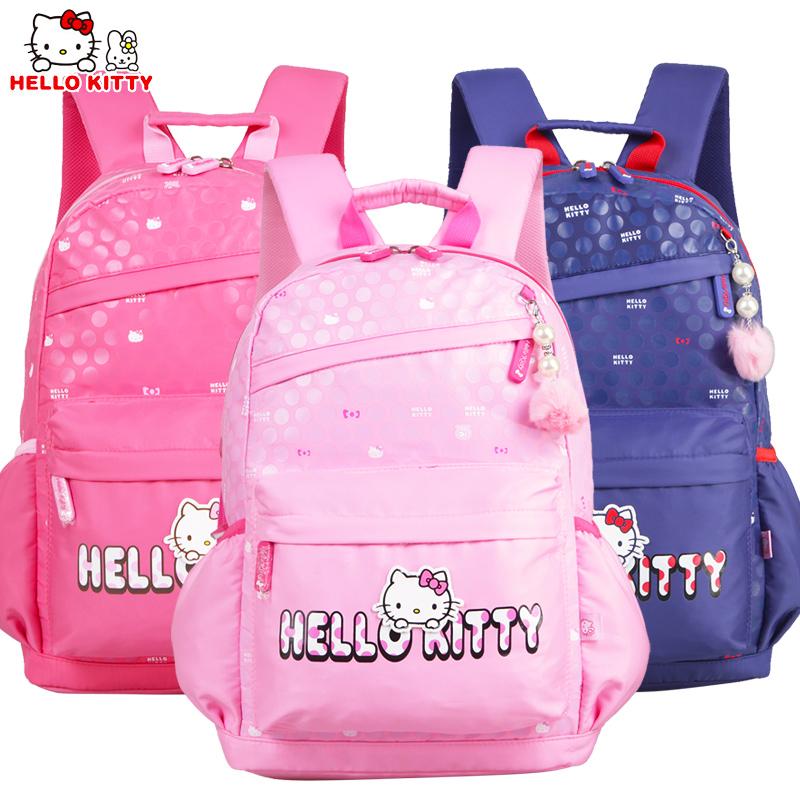 HelloKitty凯蒂猫儿童中小学生书包女童减负双肩休闲书包DL87040