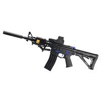 下供弹M4冲锋枪 M16电动连发水弹枪 真人CS户外玩具枪