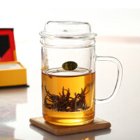 红兔子 耐热玻璃杯 创意花茶杯 功夫茶具套装