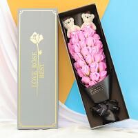 假花情人节生日礼物送女友仿真假花肥皂香皂玫瑰花束礼盒韩国创意