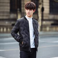 新款男士轻薄羽绒服短款韩版修身青少年立领冬装保暖休闲外套