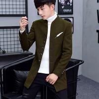 男士韩版中长款风衣男发型师冬季毛呢大衣潮流个性帅气妮子外套潮