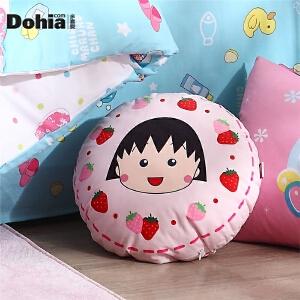 多喜爱家纺樱桃小丸子系列卡通抱枕床品靠垫圆形抱枕(小丸子)