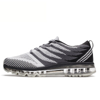 沃特男鞋运动鞋2017夏季透气新款全掌气垫轻便减震休闲跑步鞋
