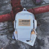 双肩包男女情侣大容量韩版背包时尚潮流休闲高中初中学生书包