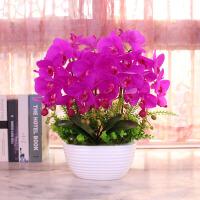 蝴蝶兰仿真花套装摆件客厅装饰花假花整体花瓶绢花花艺摆设盆栽