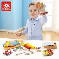 特宝儿 早教益智套装组合玩具敲琴拼图钓鱼1岁以上120320