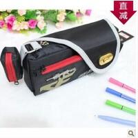 日韩国男孩大容量笔袋 文具盒 带纽扣文具袋 穿越火线地下城