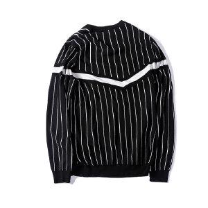 【限时抢购到手价:96元】AMAPO潮牌大码男装肥佬加肥加大条纹圆领套头长袖针织衫加厚毛衣