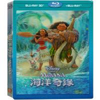 新华书店正版 动画电影 迪士尼 海洋奇� 蓝光碟 蓝光碟 3D+BD精装版