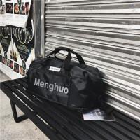 短途旅行包女瑜伽包手提包大容量轻便健身包女运动包行李包旅游包 黑色 收藏送运费险 中