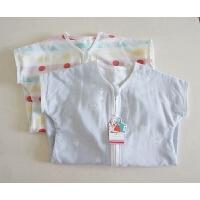 婴幼儿双层睡袋 提花竹纤维儿童防踢被 猫头鹰的是薄棉的哈