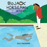 英文原版 马男波杰克 2019年挂历 片中隐藏的名画 新年日历 Bojack Horseman 2019 Wall C