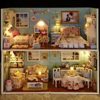 女孩子玩具房子礼物女生diy小屋手工制作拼装建筑模型别墅