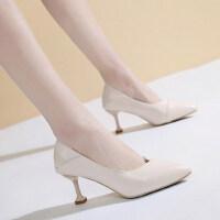 韩版细跟浅口猫跟单鞋高跟鞋女百搭网红尖头性感单鞋