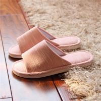 四季家用亚麻拖鞋女夏情侣室内地板家居春秋棉麻拖鞋