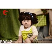韩国儿童婴儿发带头饰女宝宝假发带百天摄影满月拍照饰品