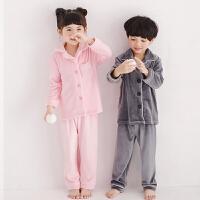 冬季银狐绒家居服套装法兰绒儿童睡衣厚款男女童宝宝 160cm(12-13岁 160码)