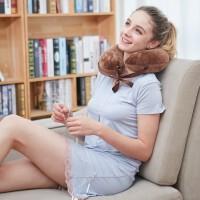乳胶u型枕学生夏季u形脖子靠枕护颈椎枕汽车飞机旅行枕头