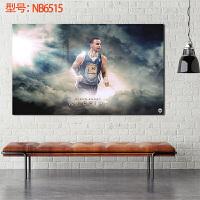 斯蒂芬・库里金州勇士篮球球星球迷海报装饰画墙纸卧室 50*30