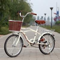 自行车女式单车24寸复古老式轻便休闲20寸学生淑女变速车
