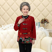 中老年人女装春秋婚礼唐装毛呢外套奶奶装60-70岁老太太奶奶衣服